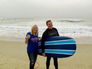 Sarah Knight Adamson and her son, Christopher Manhattan Beach, California 2016.