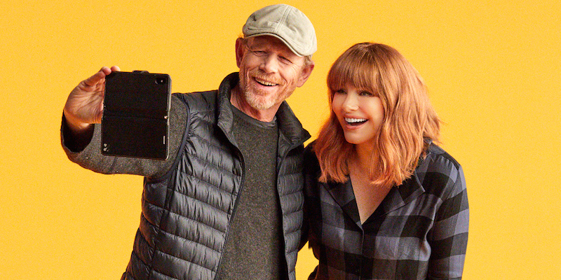 """Red Carpet Interview with Director Bryce Dallas Howard and Ron Howard of """"Dads"""""""