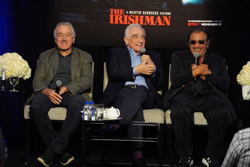 """The Irishman"" Interviews Martin Scorsese, Robert De Niro and Al Pacino"